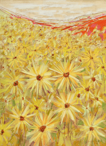 <b>Spanish Sunflowers VI</b><br/>18 x 24<br/>Sold<br/>