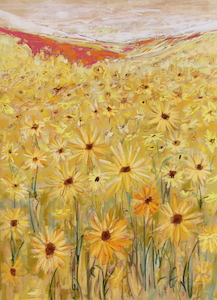 <b>Spanish Sunflowers V</b><br/>22 x 30<br/><br/>