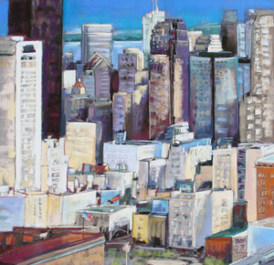 <b>Sun in the City II</b><br/>22 x 22<br/><br/>