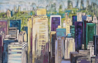 <b>Towards Central Park</b><br/>29.5 x 17.5<br/><br/>