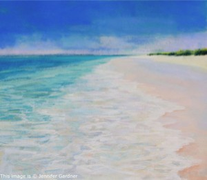 <b>Turquoise Waters III</b><br/>20 x 18<br/>Sold<br/>