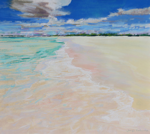 <b>Turquoise Waters VIII</b><br/>20 x 18<br/>Sold<br/>