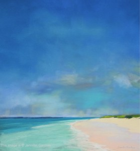 <b>Turquoise Waters</b><br/>16 x 18<br/>Sold<br/>