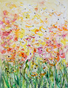 <b>Yellow Flower Series 6</b><br/>22 x 30<br/><br/>